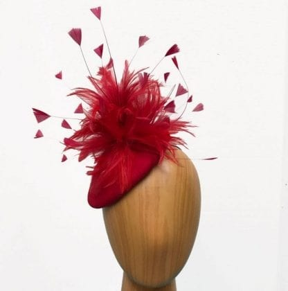 red-wool-hat- feathers