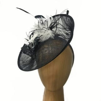 black with white lily fascinator