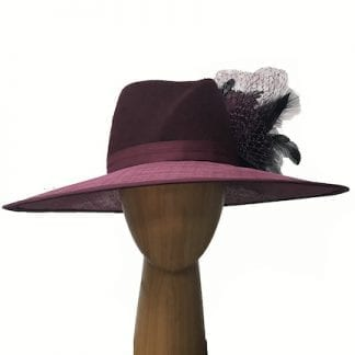 Wine wool crown hat
