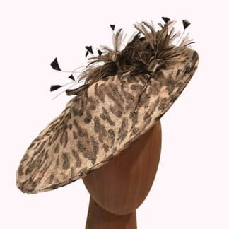 animal print feather fascinator